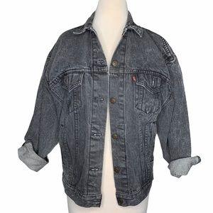 Vintage Levi's black denim jacket